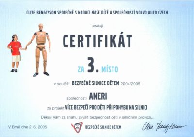 Certifikát CLIVE